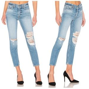 GRLFRND Karolina High Rise Skinny In Bay Blues